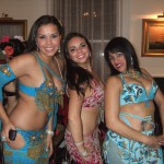 Houria with a brazilian and venezuelian bellydancers